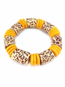Beaded Hand-Painted Stretch Bracelet $15