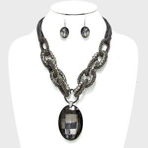 Stone Drama Necklace Set $23