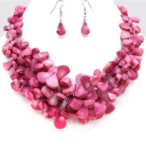 Bead Cluster Frontal Necklace Set $32