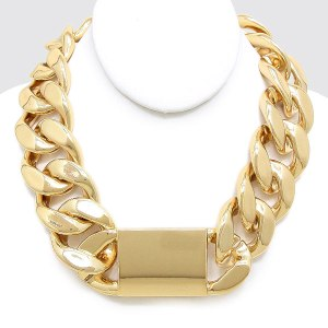Chunky Chain Link Collar Necklace $20