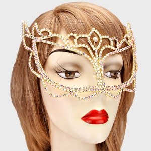 Gold Pave Crystal Mask $22