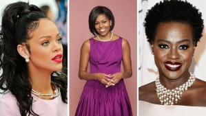 Celebrities wearing pearls
