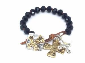 Charm Lucite Bracelet
