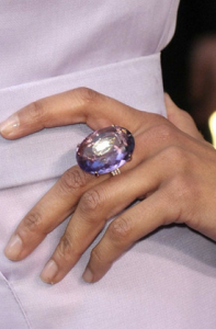 Celebrities wearing amethyst jewelry