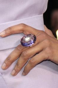 Celebrities wearing amethyst jewelry