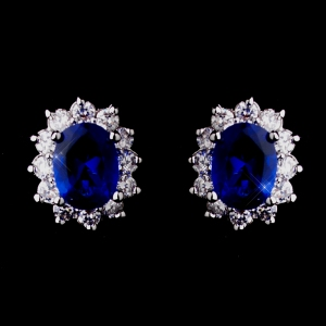 CRYSTAL ENCRUSTED SAPPHIRE CZ EARRINGS